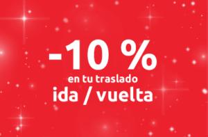 10% de descuento en su viaje de ida y vuelta